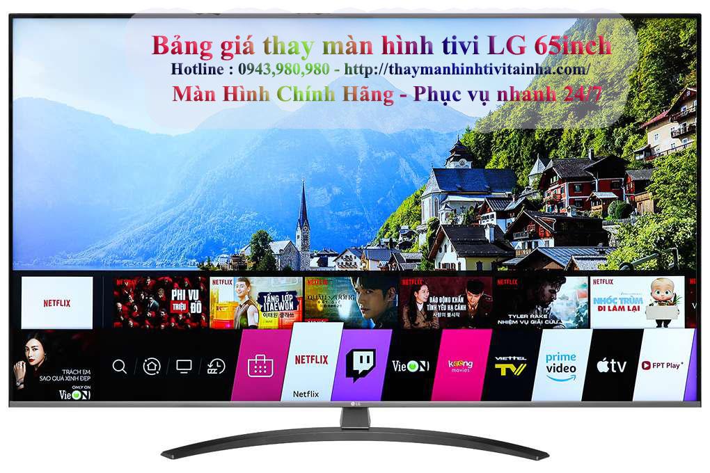 thay màn hình tivi lg 65inch tại nhà