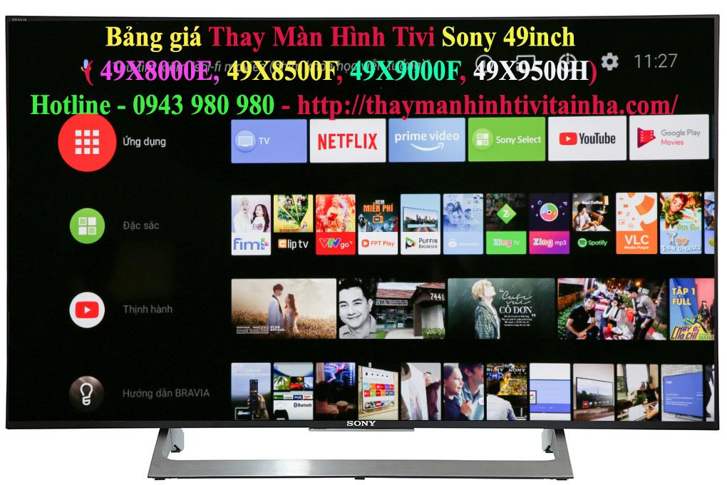 thay màn hình tivi sony 49inch tại nhà